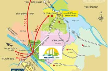 Bán cặp nhà thô giá đầu tư 1 trệt 3 lầu có hẻm kỹ thuật KĐT Mekong City - Bình Minh