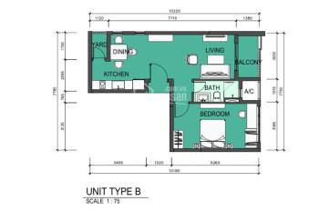 Topaz Twins, cần bán căn hộ 1 phòng ngủ, giá tốt, LH: 0829 777 111 Ms Mến