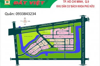 Bán nhanh đất nền dự án Bách Khoa, P. Phú Hữu, Q9, đường 12m thông ra Song Hành, LH 0933843234