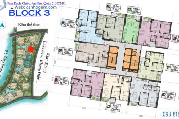 Bán gấp căn Gem 79m2, Block 3, tầng thấp, giá tốt. LH: 0909 022 320
