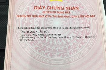 Chính chủ bán nhà mới HXH Q. 11, LH: 0899324686