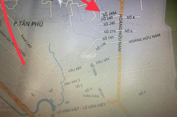 Bán đất đường Hoàng Hữu Nam, Phường Tân Phú, Quận 9. Giá 34tr/m2