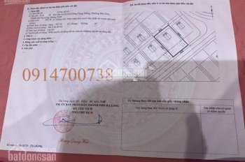 Bán lô đất biệt thự diện tích 597m2 KĐT Đông Hùng Thắng, Phường Bãi Cháy, tp Hạ Long, Quảng Ninh