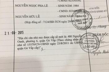 Cần bán đất trên đất có sẵn nhà cũ mặt tiền đường Nguyễn Oanh, phường 6, Gò Vấp, TP HCM