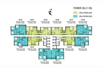 Bán gấp căn 82m2, toà C6, view hồ, ban công Đông Nam - giá 40 tr/m2