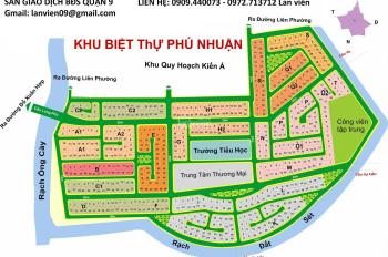 Nhận ký gửi mua bán đất nền dự án Phú Nhuận, Quận 9, LH: 0972.713712 C. Lan