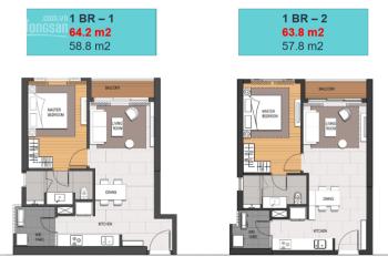 Chuyển nhượng lại căn hộ 1PN Empire City Thủ Thiêm, diện tích 64m2. LH 0908111886