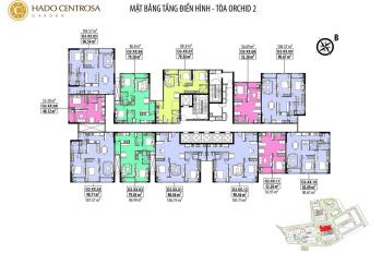 Chính chủ bán căn hộ O2.2010 Hà Đô Centrosa, nhà trống có bếp máy lạnh, rèm cửa giá chỉ 6,050 tỷ