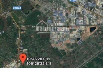7500m2 đất xây xưởng cách TL 824 (830) chỉ 400m, đường 2 xe container