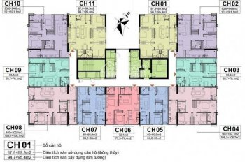 (0967343181 anh Kiên) cần bán CC A10 Nam Trung Yên, (1506 - 72,1m2) và (1610 - 94,8m2) 27tr/m2