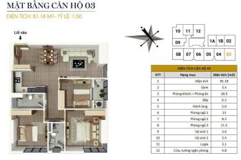 0946543583. Bán căn góc 03, 82m2, 3PN, giá 1,56 tỷ tại chung cư FLC Star Tower 418 Quang Trung
