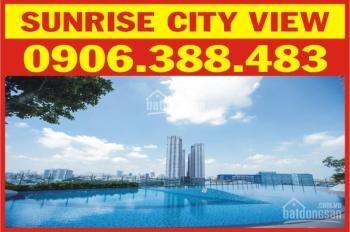 Cho thuê căn hộ Sunrise City View, mới 100%, DT 61m2, 2PN, giá 14tr/tháng. LH: 0906.388.483