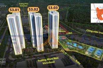 Bán căn hộ studio Vinhomes Smart City giá chỉ từ 940tr, siêu hot với nhà đầu tư. Lh 0949826803