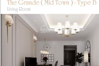 Cho thuê căn hộ Midtown The Grande, 2PN, 90m2, full NT, giá 28,931tr/th, LH: 0903.044.098 Ms.Trang