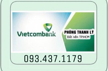 Vietcombank HT thanh lý 40 nền đất và 5 lô góc, 2 dãy trọ liền kề Aeon Bình Tân, chợ Bà Hom, có SHR