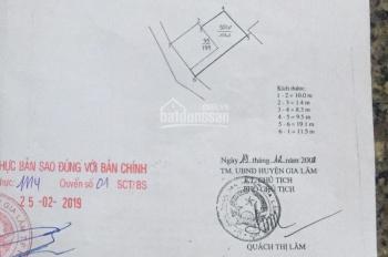 Bán đất thôn Đình Vỹ, xã Yên Thường, H. Gia Lâm, TP Hà Nội, diện tích: 45m2, rộng 4.5m, dài 10.0m