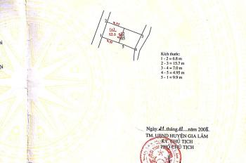 Bán đất thôn Trùng Quán, xã Yên Thường, H. Gia Lâm, TP Hà Nội, diện tích: 52.5m2, vuông vắn