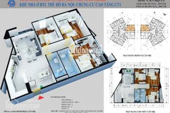 Bán lỗ CHCC CT1 Yên Nghĩa, 2401, 114m2, giá 11 tr/m2. LH 0845623000