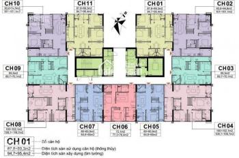Bán cắt lỗ căn hộ CC A10 Nam Trung Yên CT1 26 - 04. DT 102.1m2, giá 28tr/m2