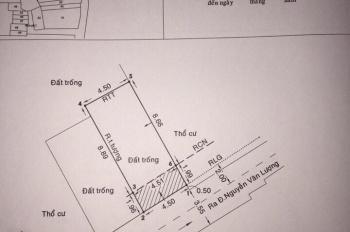 Cần bán lô đất hẻm 350 đường Nguyễn Văn Lượng, quận Gò Vấp. Liên hệ 0938027679