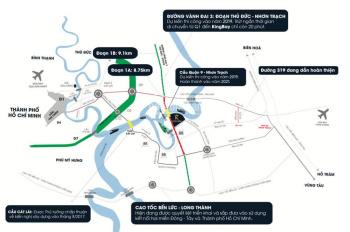 Đất nền King Bay, Đồng Nai, mặt tiền sông, giá 21 triệu/m2, đón đầu Vành Đai 3 và cầu Quận 9
