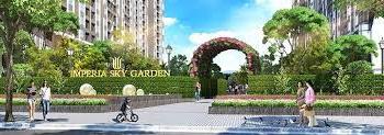 Cho thuê tầng 1 tòa nhà Imperia Garden, diện tích 171m2, mặt tiền 8m