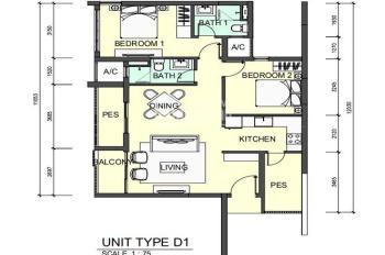 Bán căn hộ Topaz Twins, 2PN, giá chênh hấp dẫn, LH: 0829 777 111 Ms Mến