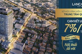 CH khách sạn trung tâm Ba Đình cam kết cho thuê 7%/năm nhận nhà ở ngay. Từ 64tr/m2 full nội thất