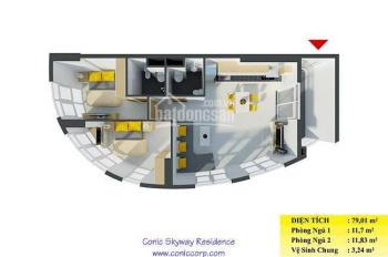 Bán căn hộ 2pn full nội thất 79m2 tầng cao gần trường Canada CIS Bình Chánh