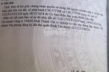 Cực rẻ - giá đầu tư cực tốt - hẻm 6m đường Bình Thành - 4x19m - giá 2tỷ85