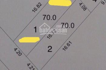 Giá đất đang lên từng ngày theo dự án bến xe Cổ Bi đang xây dựng, DT: 70m2, MT: 4.2m nở hậu 4.26m