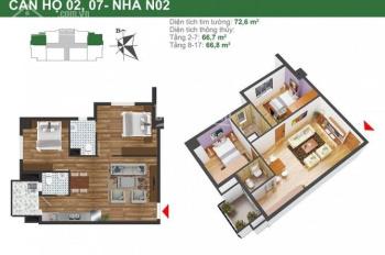Bán căn hộ 63m2 và 66m2 tại tòa NO2 dự án K35 Tân Mai, liên hệ 097.391.5012