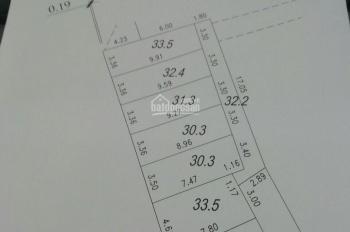 Bán đất tổ 12 Yên Nghĩa 33m giá 1,1 tỷ ngõ thông, ô tô cách 50m gần trục chính