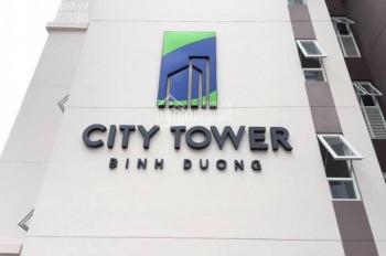 Căn hộ City Tower Thuận An, 3PN DT 74m2 căn góc đầy đủ nội thất, view công viên, giá 11 triệu/tháng