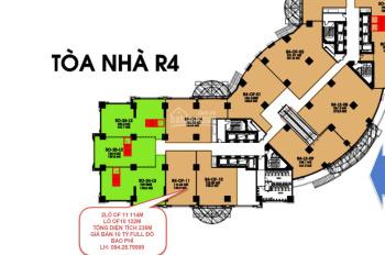 Bán sàn văn phòng R4 Royal City 2 lô tổng diện tích 236m2 full đồ, bàn giao ngay: 0942.879999