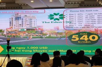 Cần bán đất trung tâm hành chính Bàu Bàng giá chỉ 540 triệu - 0908420624