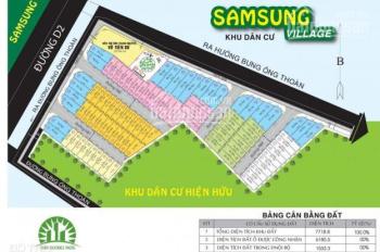 Giá rẻ nhất hiện tại cho lô đất trung tâm Quận 9, dự án Samsung Village 1, 60m2, giá 2 tỷ 550