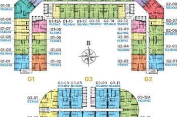 Bán gấp CH lô góc 3 PN, view đẹp G1 - 1802, 94m2, Sunshine Garden 34 Vĩnh Tuy, 3.2 tỷ, 0964.889.066