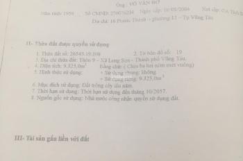 Cần tiền bán rẻ 9000m2 đất Long Sơn - chân cầu Chà Và - Tp Vũng Tàu .
