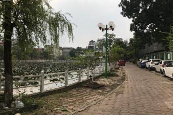 Chính chủ cần bán 80m2 đất mặt hồ sen Phúc Lợi, Long Biên. Hướng Đông Nam MT 4.5m giữa mặt hồ