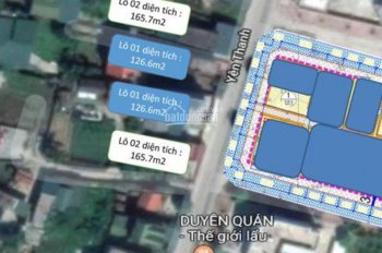 Chính chủ cần bán cắt lỗ đất có sổ đỏ mặt đường Yên Thanh