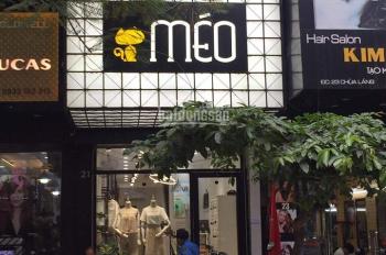 Sang nhượng shop thời trang phố hot Chùa Láng vị trí đông đúc sầm uất, giá thuê chỉ 22 tr/th