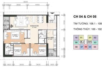 Bán gấp căn hộ chung cư A10 Nam Trung Yên, căn 1208, DT 100m2, 3PN, căn góc giá gốc 28tr/m2