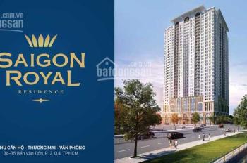 Chính chủ cần cho thuê hoặc bán căn hộ Saigon Royal Residence Quận 4, A.5.10. LH: 0919306311