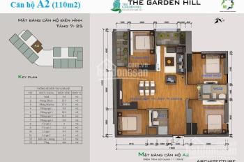 Garden Hill 99 Trần Bình, căn 3 PN (90m2) giá 2,3 tỷ; căn 3PN + 1 (107m2) giá 2,8 tỷ,  ở ngay