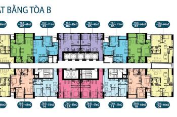 Bán căn hộ chung cư Intracom Riverside căn 1811 DT: 49.7m2 tòa B, giá 20tr/m2. LH: 0934568193