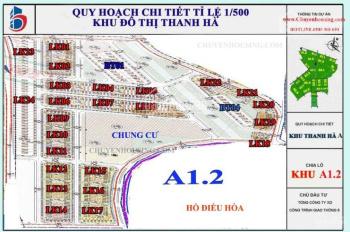 Chính chủ cần bán đất khu A1.2 KĐT Thanh hà giá siêu tốt vị trí đắc địa. Liên hệ: 0984.068.362