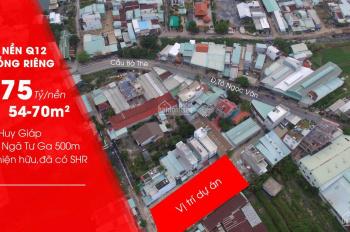 Bán đất tại Hà Huy Giáp, Q12, cách ngã tư Ga 500m, DT: 4x14m. Giá: 2.75 tỷ