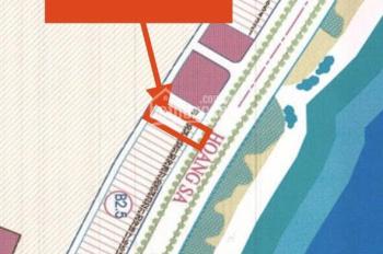 Bán gấp lô đất số 34 và 35 mặt đường Hoàng Sa, đối diện bãi tắm Mân Thái. DT 207m2, mặt tiền 10m