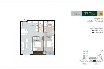 Chính chủ căn hộ La Cosmo Tân Bình, căn số 08, 77m2, 2PN, 2WC, 3 tỷ 95. LH 0934048368